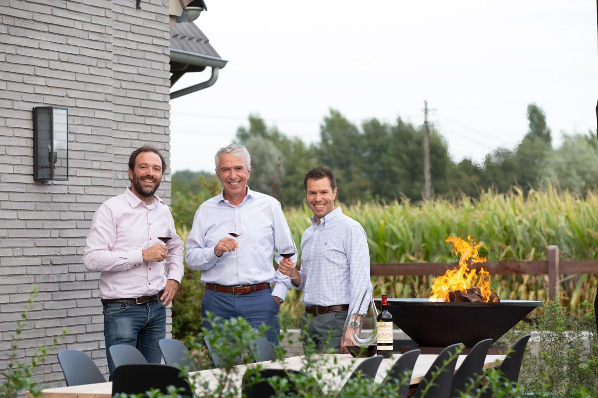 Team Elbeko met Paul, Tim en Bert Schauwvlieghe
